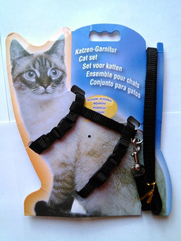 шлейка для кошки поводок