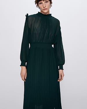 платье миди зара