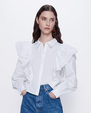 рубашка женская зара