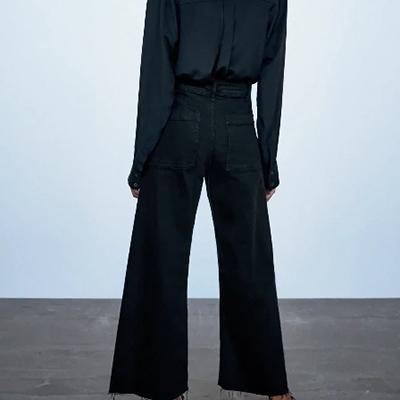 женские клёш джинсы